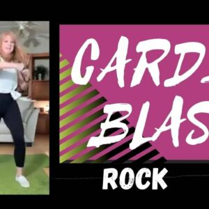 Rock CARDIO Blast & Stretch | 1400 steps in 12 minutes | Quick Cardio Workout over 50