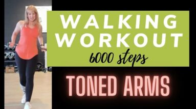 Toned Arms Walking Workout | 6000 Steps, Walk at Home | Arm Toning Walk with Marion