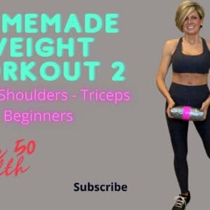 Pill Workout 2 (Homemade weight workout chest, shoulders, triceps) Women Over 50