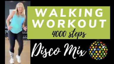 Quick 30 minute Disco Walk | Disco Hits Walking Workout 4000 steps at Home (shorter version)