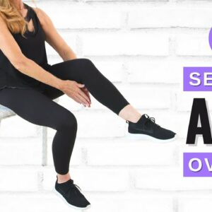 Lose Belly Fat Sitting Down | 5 Minute AB WORKOUT for women over 50!