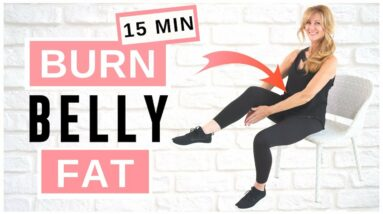 Lose Belly Fat Sitting Down | AB WORKOUT For Women Over 50!